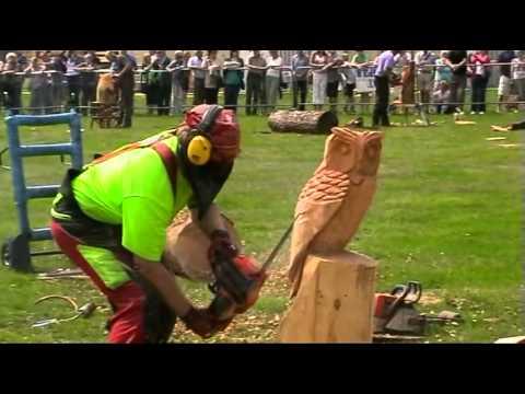 Sculture il legno con motoseghe youtube