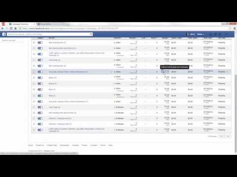 How to Copy Facebook Ad Campaigns with the Power Editor Free Facebook Advertising Tutorial July 2014