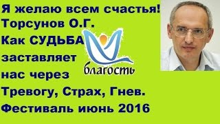 Торсунов О.Г. Как СУДЬБА заставляет нас через Тревогу, Страх, Гнев. Фестиваль в Туапсе, июнь 2016
