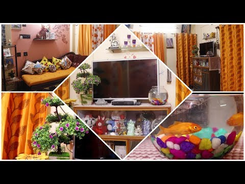 Indian Living Room Tour//Small Indian Living Room Makeover 2019 In Budget