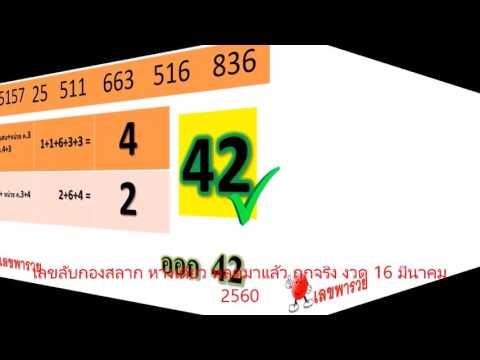 เลขลับกองสลาก หางเดียว หลุดมาแล้ว ถูกจริง งวด 16 มีนาคม 2560 @KhaosodToday