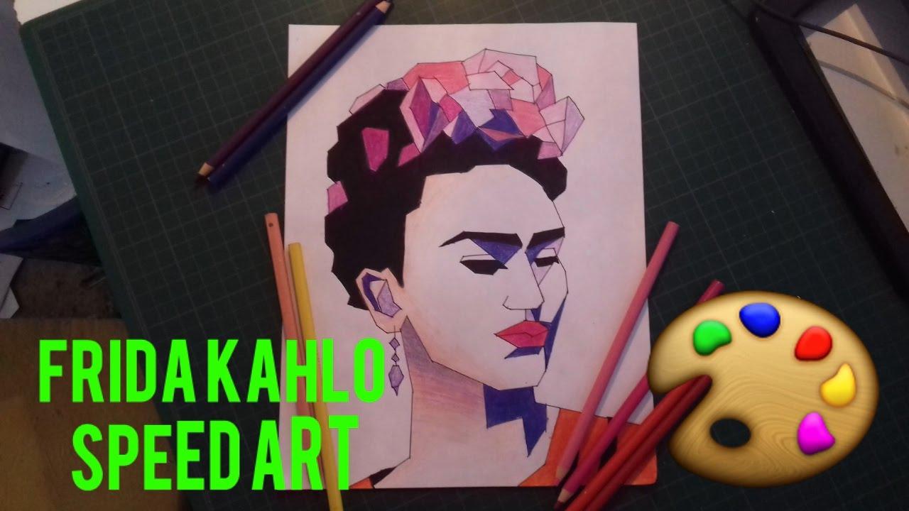 Frida Kahlo Para Dibujar: Dibujo Speed Frida Kahlo