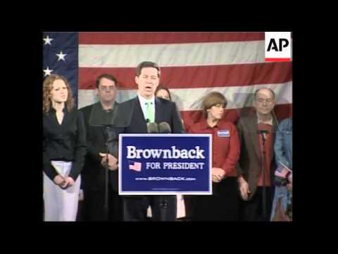 Republican Sen. Sam Brownback says he is running for president in 2008