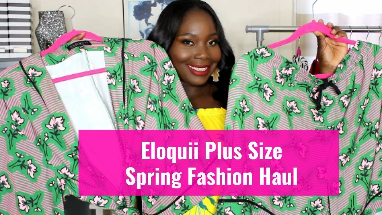 82740ead16fa Eloquii Plus Size Spring Fashion Finds Try On Haul - YouTube