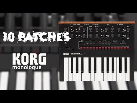 10 Patches on the KORG Monologue (no talking)