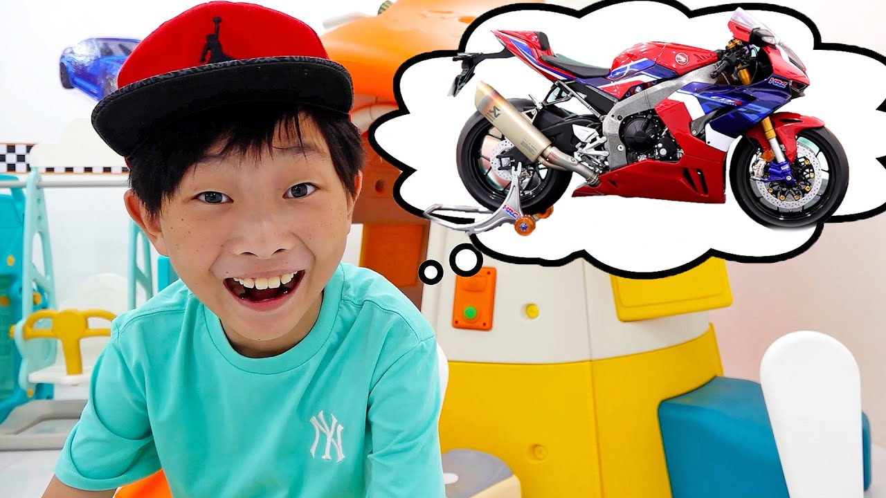 Superbike Toy Assembly with Outdoor Playground for Children