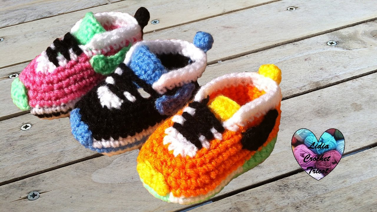 Sastre Deportista Colonos  Baskets Nike bébé crochet 1/3 / Nike sneakers crochet (english subtitles) -  YouTube
