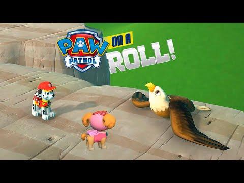 Paw Patrol On A Roll  Щенячий патруль Скай и Маршал спасают Орла Игра как Мультик