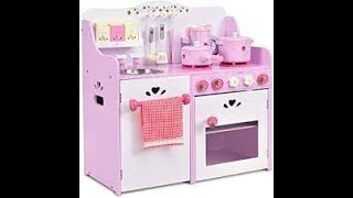 Toy Kitchen Playset For Kids - Learn Food Names Kitchen Playset Cutting Velcro Toy Foods Movie!