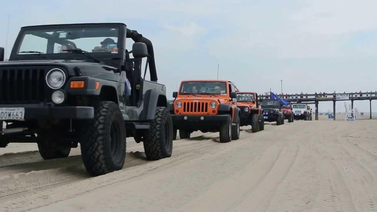 Ocean City Jeep Week >> Ocean city jeep week 2013 beach run parade - YouTube