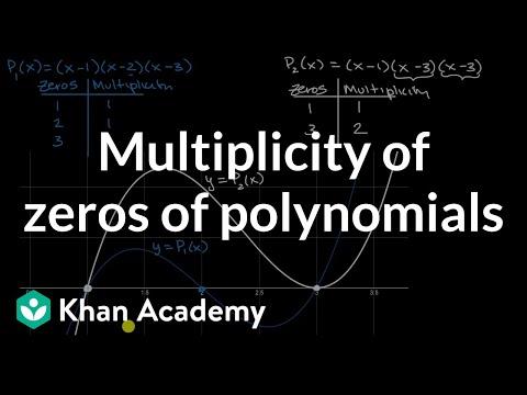 Multiplicity Of Zeros Of Polynomials | Polynomial Graphs | Algebra 2 | Khan Academy