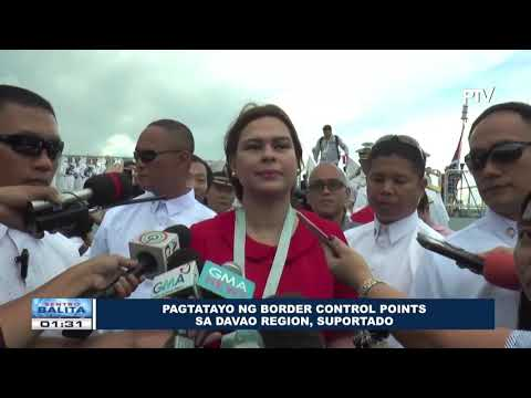 Pagtatayo ng border control points sa Davao region, suportado