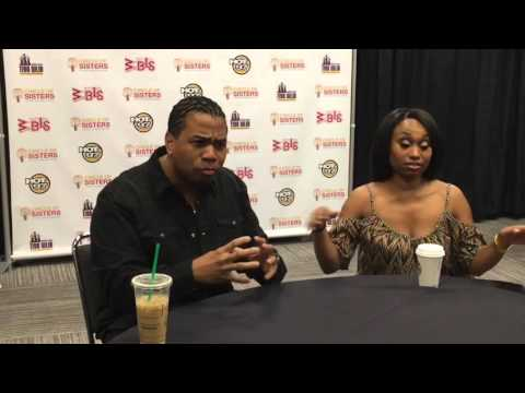 Bobby Brown , Omar Gooding , Angell Conwell talk with Press at Circle Of Sisters 2015