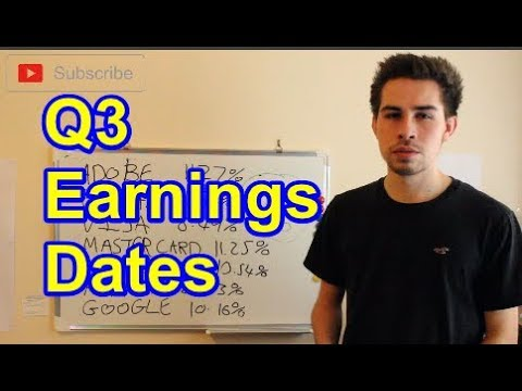 Q3 Earnings Dates Fb Aapl Tsla Amzn And More Youtube
