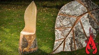 Making a log throne