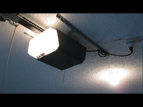 Replacing Garage Door Opener Light Socket And Back Panel