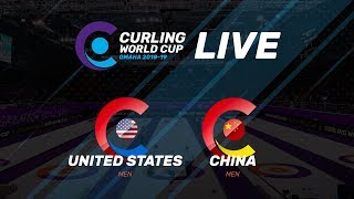 United States v China - Men - Curling World Cup second leg, Omaha, United States