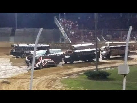 School Bus feature race Lawrenceburg Speedway