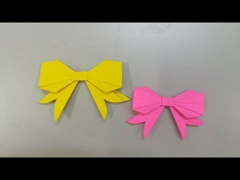 Paper bowtie tutorial | Origami bow tie | Easy paper bow tie