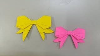Paper bowtie tutorial | Origami bow tie | Easy paper bow tie