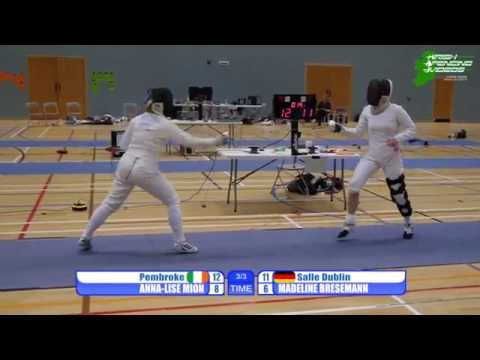 West of Ireland Open 2013, Women's Epee Final