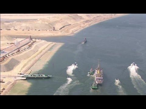 Egypt expands Suez canal
