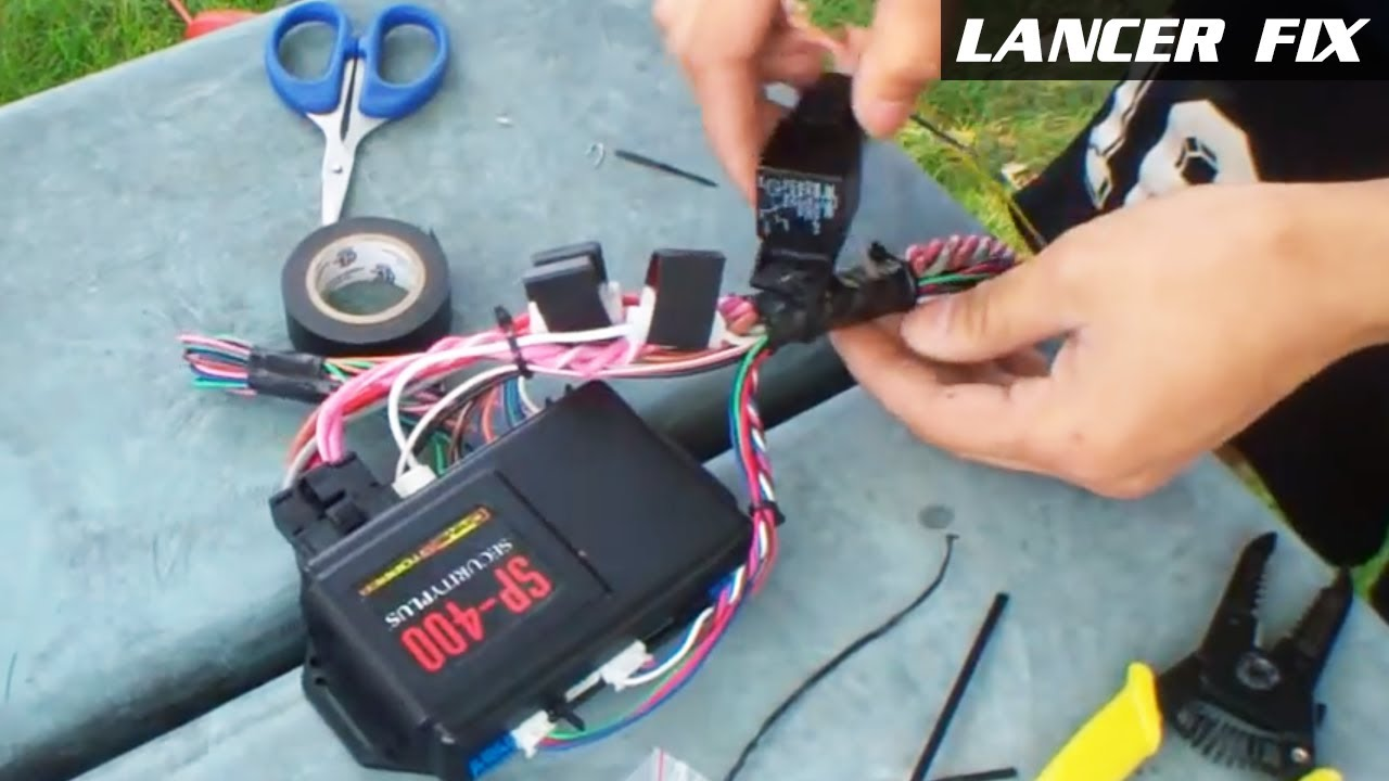 2003 Mitsubishi Lancer Oz Rally Radio Wiring Diagram Smartcom Relay Fix 2 First Attempt Car Remote Start Alarm Sp 400 Youtube