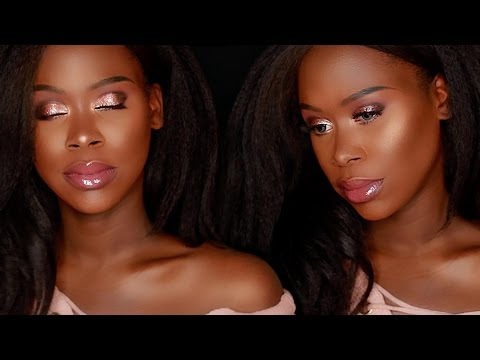Stila Magnificent Metals Glitter & Glow Liquid Eye Shadow Rose Gold Makeup Tutorial