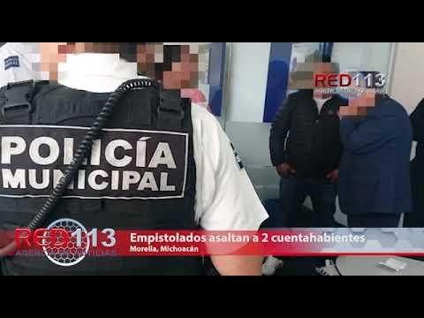 VIDEO Empistolados asaltan a 2 cuentahabientes en la Av. Morelos Norte