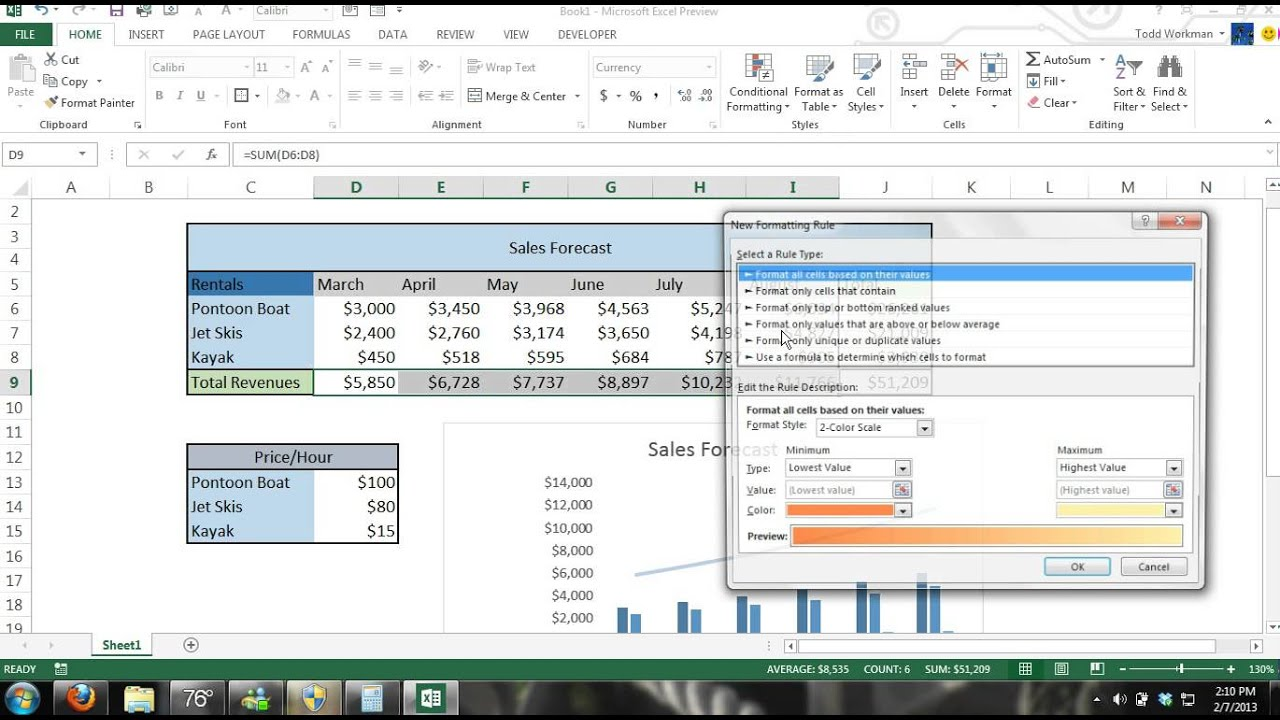 microsoft excel 2013 tutorial for beginners  4  crash