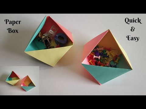 How to make a Paper Box | Quick and Easy | DIY | Paper Craft