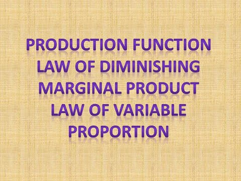 Production, Law of Diminishing MP and law of Variable Propor