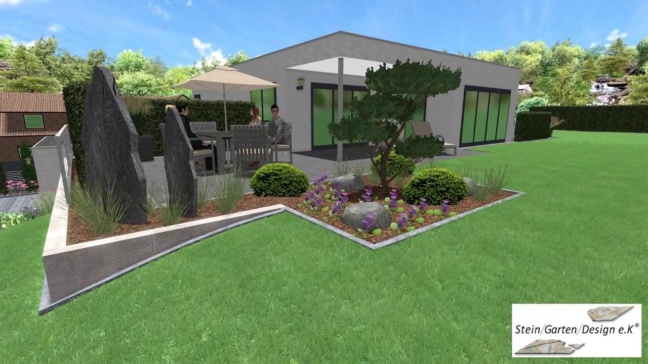 Stein Garten Design E K 3d Gartenplanung Youtube