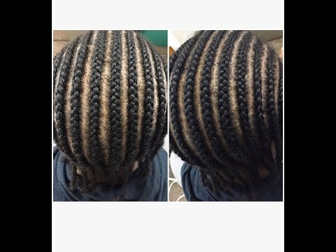 HOW TO CORNROW FOR BEGINNERS | @theweavespecialist