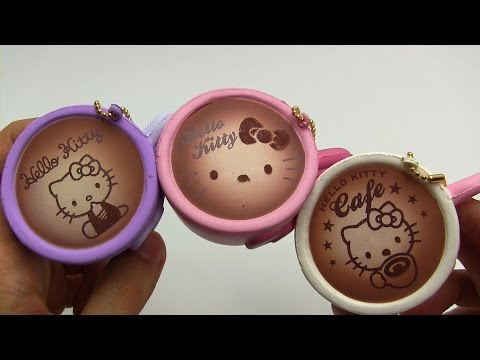 Hello Kitty Coffee Cup Squishies ~ ハローキティ コーヒーカップ スクイーズ