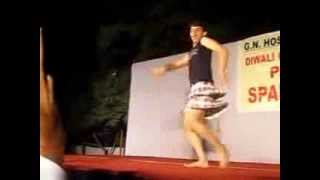 funny gay dancer at G.N. Hostel greater noida