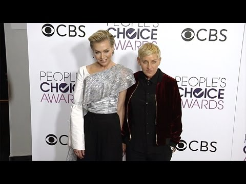 "Ellen Degeneres and Portia de Rossi ""People's Choice Awards"" 2017 Press Room Red Carpet"