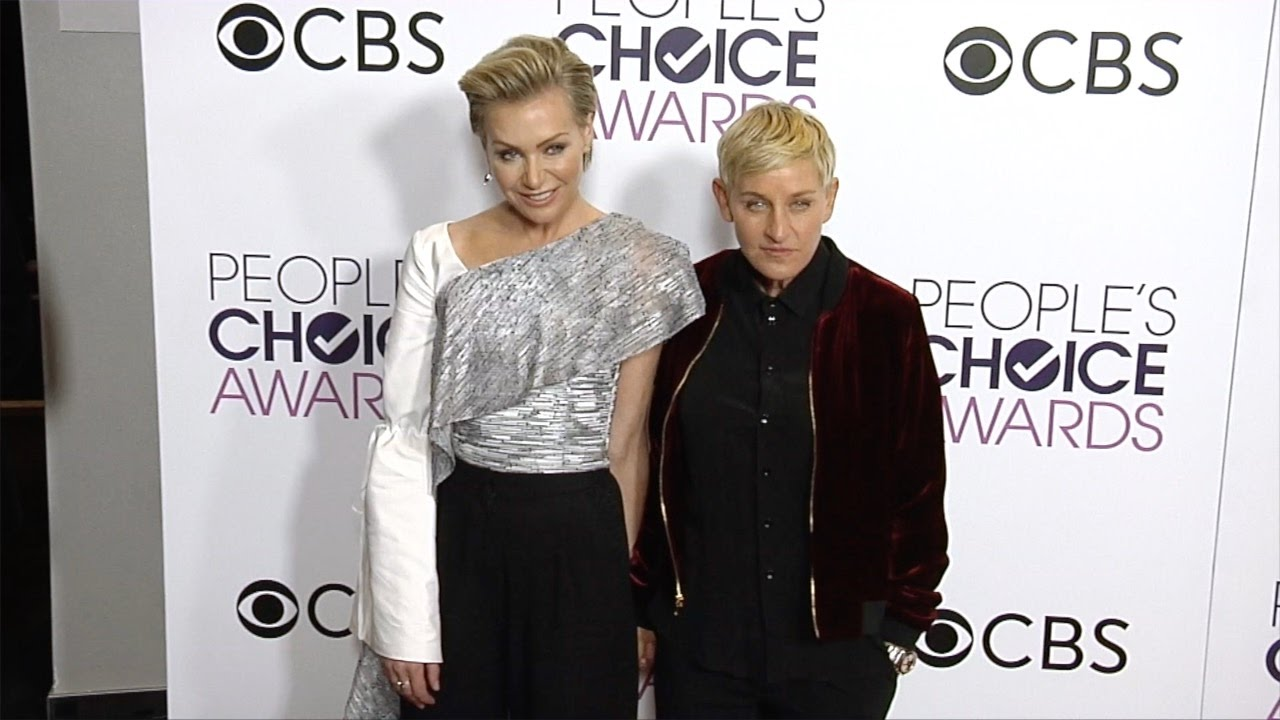 Ellen And Portia Ellen Degeneres And Portia De Rossi Peoples Choice Awards 2017