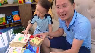 Mở hộp đồ chơi Đàn Trống & Bộ xếp hình gỗ cho Bé - Boppy Family