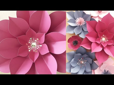 DIY Easy Paper Flower Tutorial | Step by Step How To | One Template into Variety of Paper Flowers