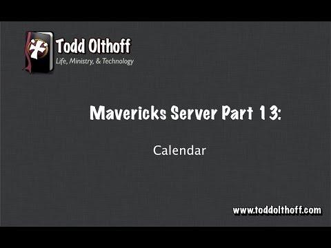 Mavericks Server Part 13: Calendar