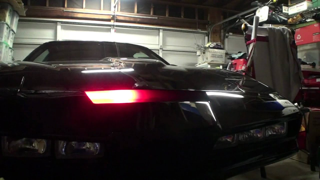 New Knight Rider KITT Scanner Test - YouTube