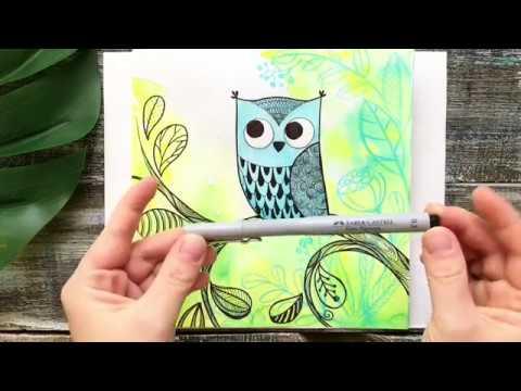 Как нарисовать Сову? | Пробный урок Рисовального Лагеря от Lil School