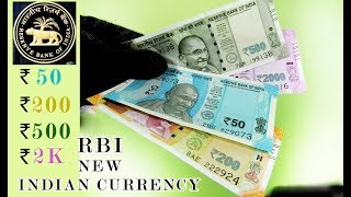 RBI New Rs 50,Rs 200,Rs 500,Rs 2000 INDIAN Currency (bank notes)