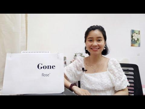GONE (ROSE') Học Tiếng Anh Qua Bài Hát | Thảo Kiara