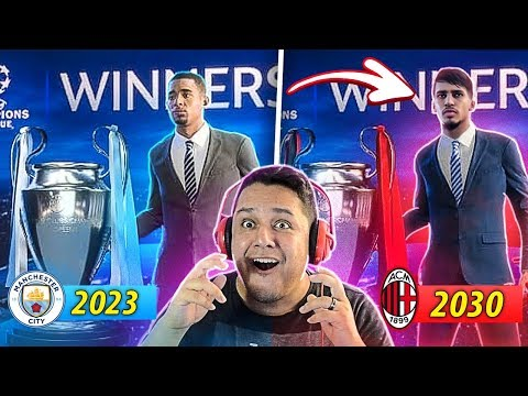 Simulei Os VENCEDORES Da CHAMPIONS! (2019-2033) FIFA 19 EXPERIMENTO!!