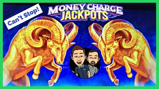 This SLOT Would Not STOP Giving Us BONUSES! Money Charge Jackpots Golden Ram