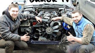 BMW E34 Swap M60B40 Установка мотора. Первый старт