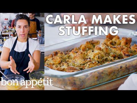 Carla Makes Thanksgiving Stuffing | From the Test Kitchen | Bon Apptit