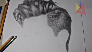 Desenhando cabelo realista - Speed drawing